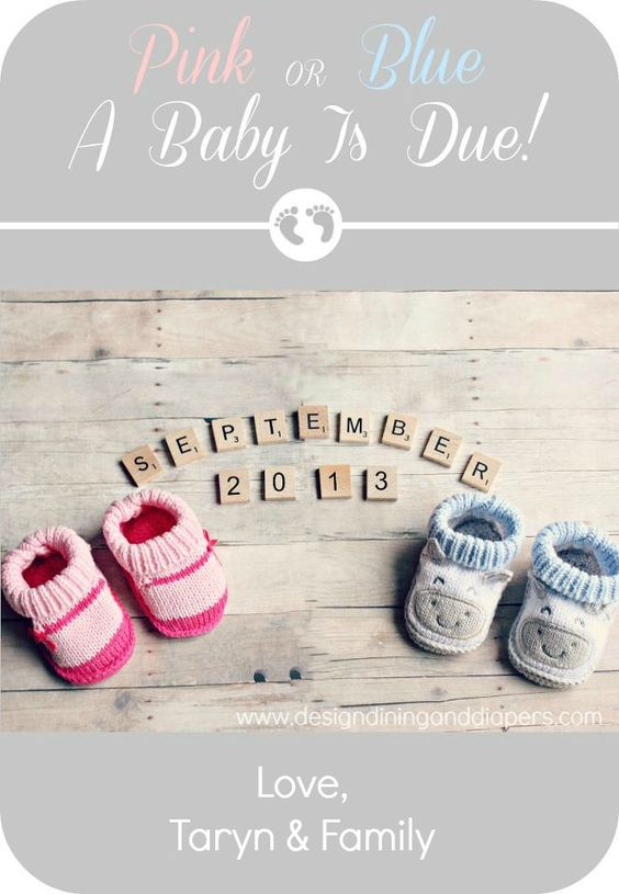 Pink or Blue – Scrabble Baby Announcement