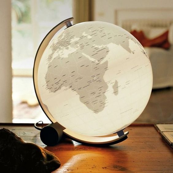 Globe Lamp | 50 Awesome Holiday Gifts for Men: Your Boyfriend, Dad ...