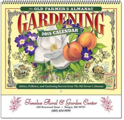 Farmers Almanac Gardening Calendar Calendars Pinterest