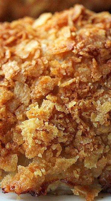 Oven Fried Potato Chip Chicken