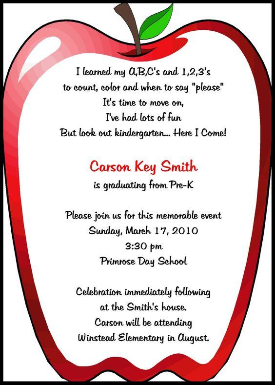 Preschool Invitations Templates | Printable preschool ...