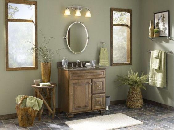 valspar+paint+sparkling+sage+bathroom   Galleria di immagini e foto: Abbinare i colori delle pareti ai mobili