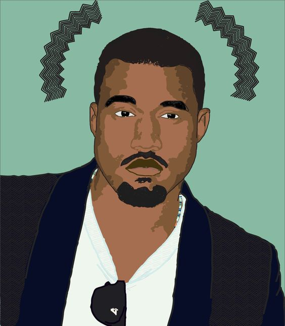 Kanye vector portrait. Mainly made through illustrator.
