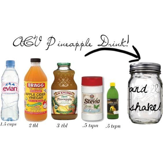 Pineapple Drinks, Cider Vinegar And