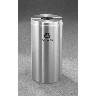 Glaro, Inc. RecyclePro 12-Gal Single Stream Bottles Industrial Recycling Bin
