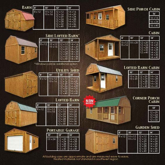 Various Sizes Lofted Barn Cabin Portable Buildings Shed Homes