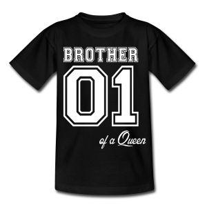"Kiddistore, Kinder T-Shirt ""Brother 01 Shirt"", cooles Kinder Print Shirt, Jungs Shirt, 10 bis 12 Jahre, 2 - 8 Jahre, Jungs Shirt, von Gr. 98 bis 128"