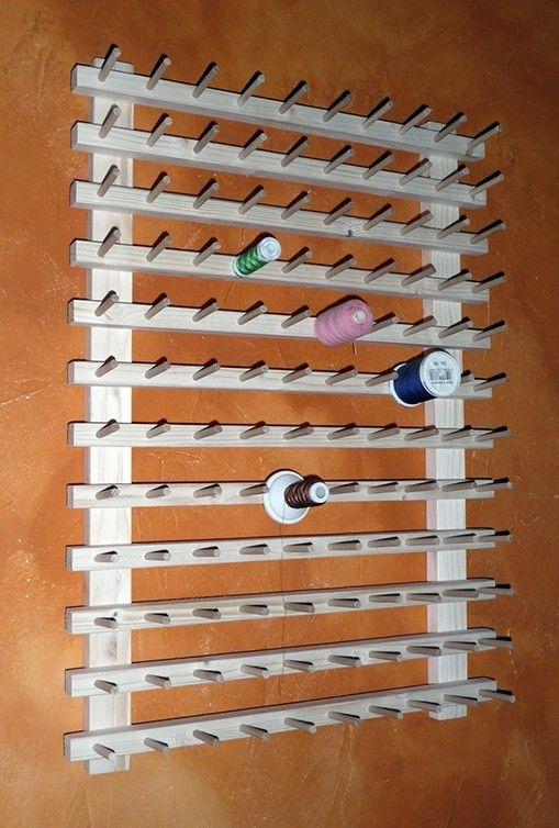 Couture pr sentoir mural porte bobines pour 120 bobines for Fil de couture