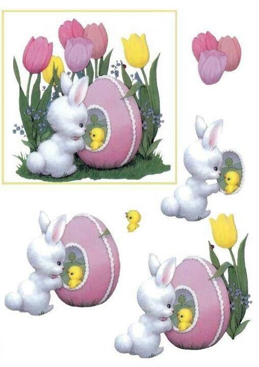 Easter 3d card: