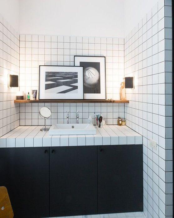 Black White And Pink Bathroom Inside Closet Decoration