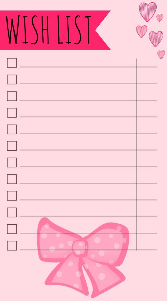Diese supersüße Wish-List erfüllt mich mit Freude, wenn ich immer ieder etwas notiere. In der letzen Spalte werden die Preise eingetragen. :)- Filofax - Personal - Domino - Love - Inserts - To-Do - Lists - Challenges -
