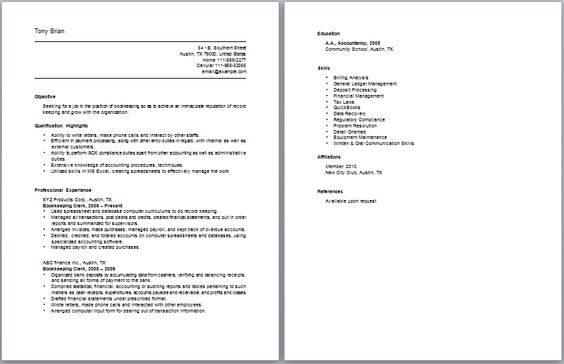 National Account Coordinator Resume Accounting Resume Samples - clerical resume