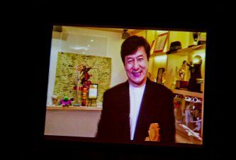 GSC's 25th anniversary. Jackie Chan sent his congratulations via video message!.