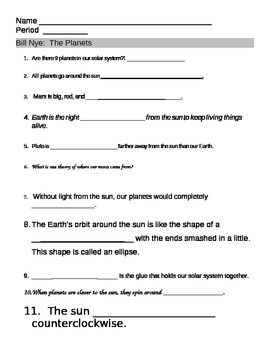 Worksheets Inside Planet Earth Video Questions Key solar system and sun on pinterest this 11 question worksheet with teacher answer key provides a way for students to follow along
