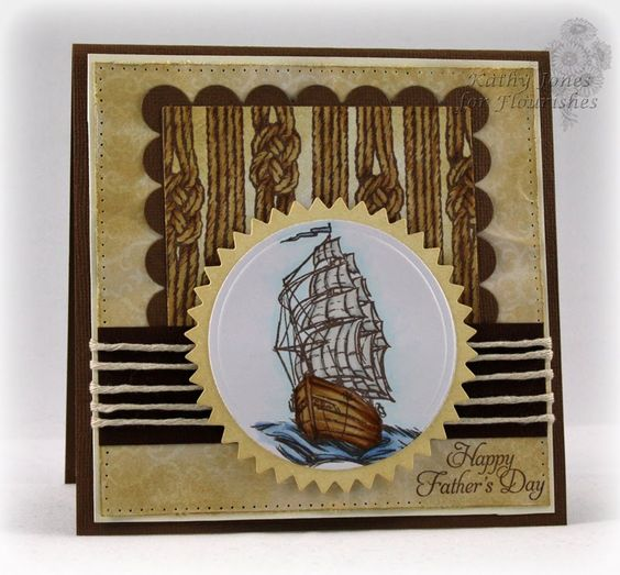 Inspired to Stamp: Rustic Ship: