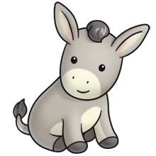 Donkey Clip Art Pinterest Donkeys
