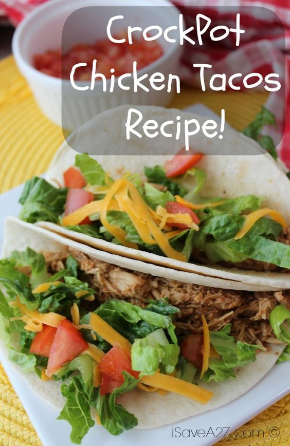 Check out yet another one of our GREAT Crockpot recipes! This time we are bringing you our Crockpot Chicken Tacos Recipe! Don't miss out!!
