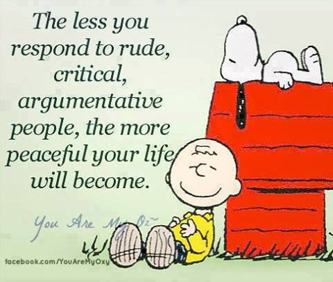 Positive Inspirational Quotes: The less you respond to rude...
