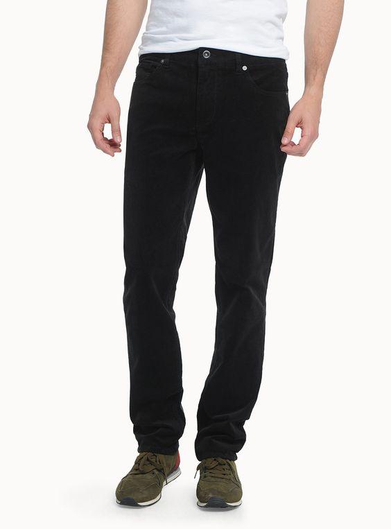 Urbains | Simons slim narrow wales navy corduroy jeans