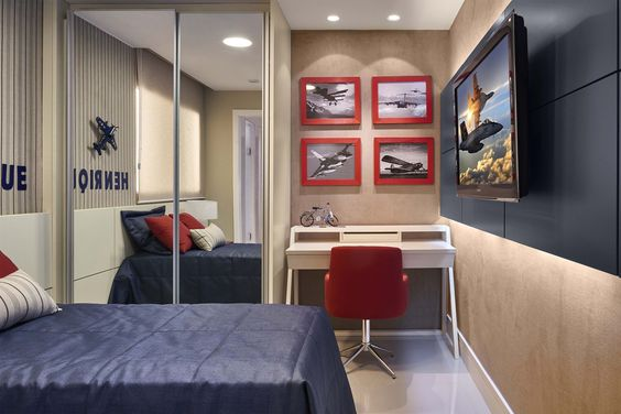 quarto para menino adolescente Decoração Quartos  ~ Arquitetura Quarto Jovem