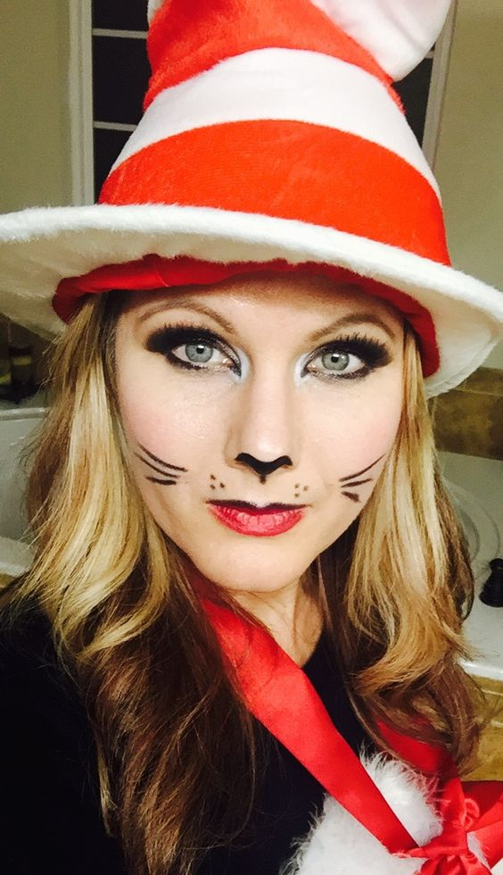 Gallery For gt How To Do Cat In The Hat Makeup