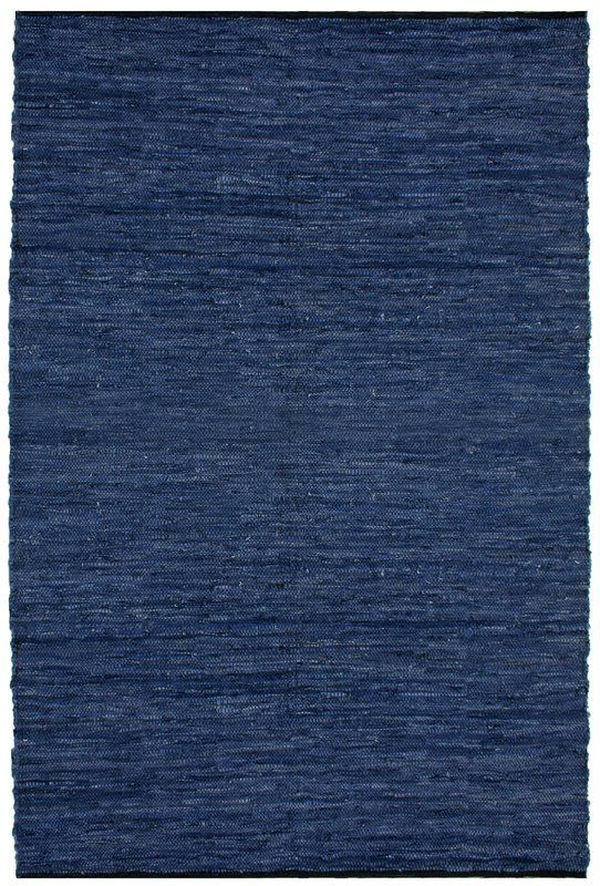 Sandford Chindi Hand Woven Cotton Blue Area Rug Leather Rug Blue Area Rugs Colorful Rugs