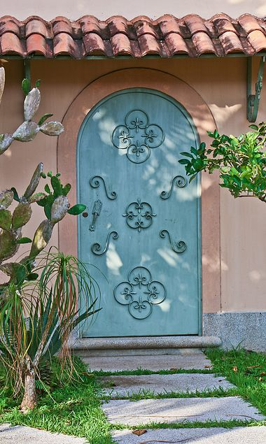 Ornamental Blue Door, Jaco, Costa Rica