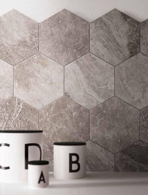 grey fleury stonemarble look cube mosaic stone inspired tiles pinterest mosaics marbles and tile