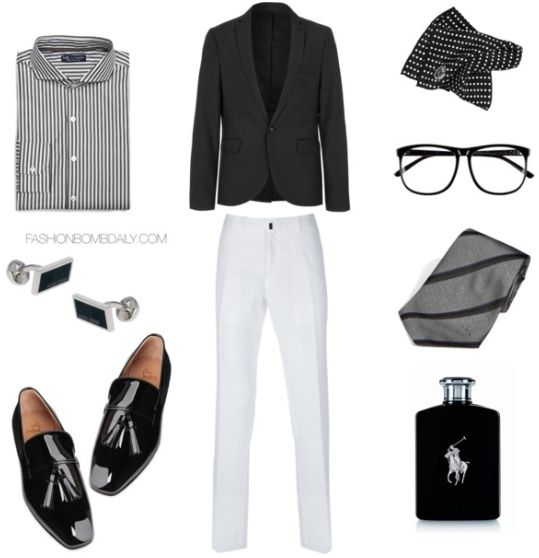 Mens Style Inspiration What To Wear A Black And White Party 1 Clothing Him Pinterest Parties Men S