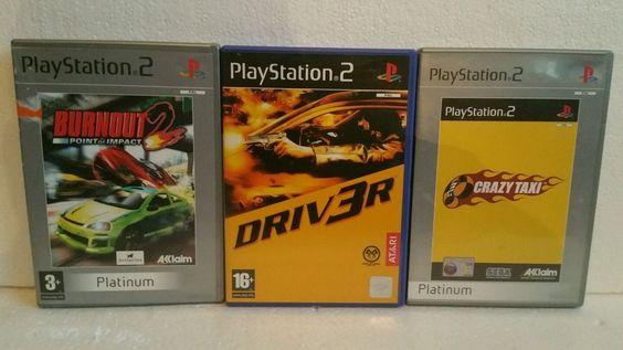 BUNDLE OF PLAYSTATION 2 DRIVING GAMES / BURNOUT 2 / CRAZY TAXI / DRIVER