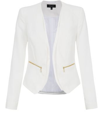 Look for a little structured jacket that will go over both your