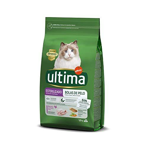 Ultima Pienso Para Gatos Esterilizados Para Prevenir Bolas De Pelo Sabor Pavo Pienso Para Gatos Gatos Trucha