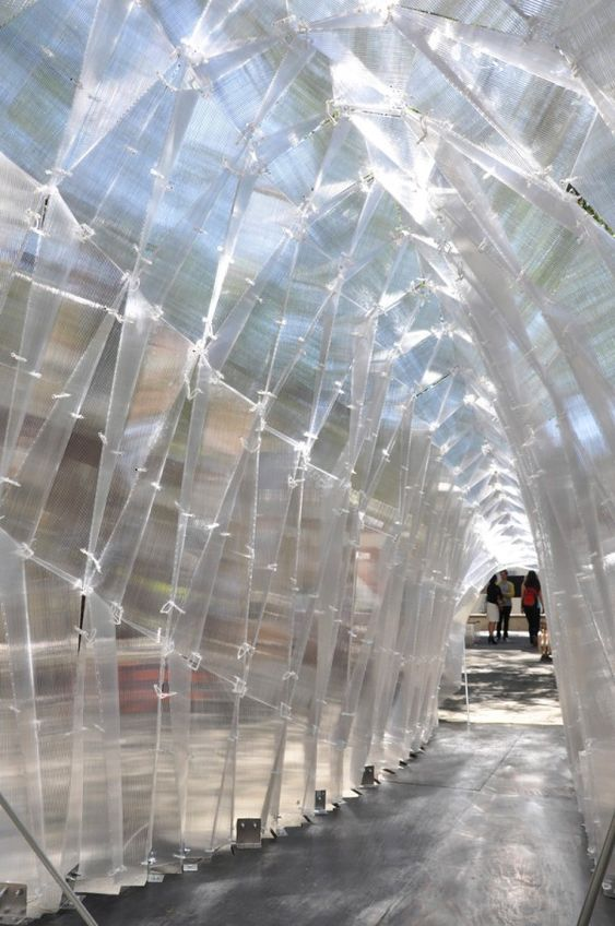 Polycarbonate Pavilion at USC School of Architecture, 2013: