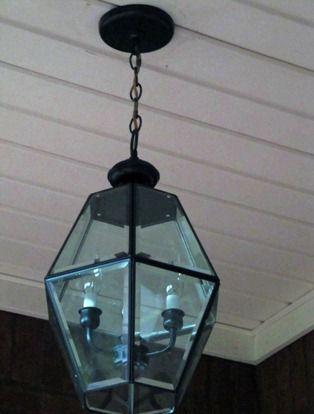 Update old brass light fixture #DIY