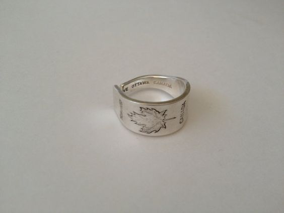 Toronto Ring Spoon Ring Spoon Jewellery Toronto by GeorginaBaker, $26.00
