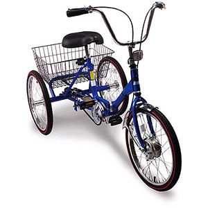 Foldable Adult Tricycle With Basket Perfect For A Ride