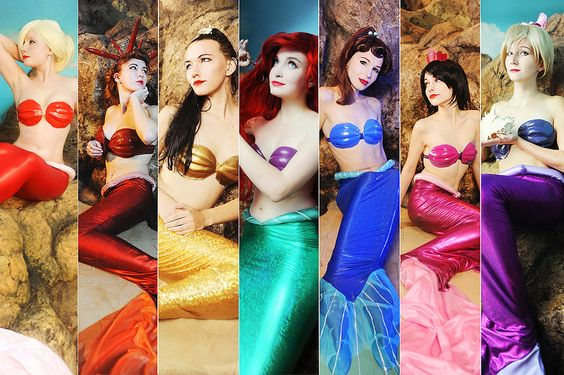 Ariel and her sisters (Little Mermaid)
