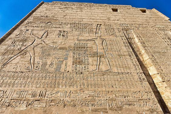 First Pylon, Mortuary Temple of Ramses III, Medinet Habu, Egypt