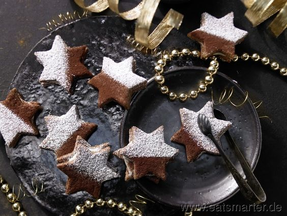 Tiramisu-Sterne mit Schoko-Mascarpone-Füllung | Kalorien: 200 Kcal | Zeit: 80 min.