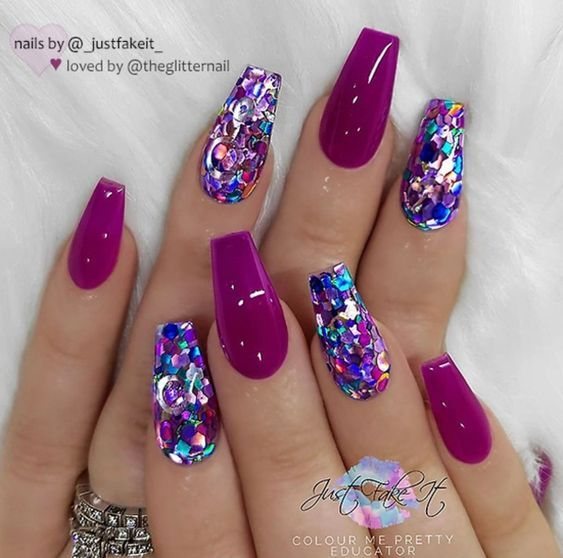 Untitled Sparkly Nails Coffin Nails Designs Nail Designs