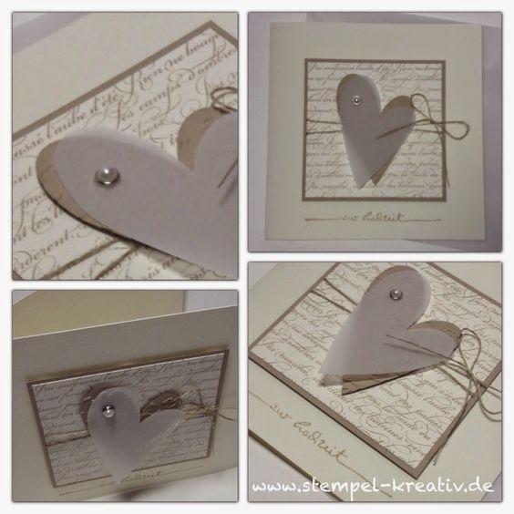 Kreativ Karten gestalten: Zur Hochzeit ... ❤️