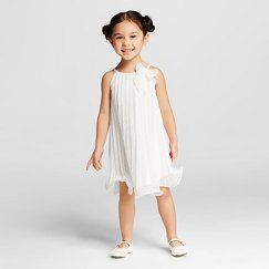 Toddler Girls' Sleeveless Dress Ivory - Cherokee®