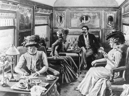 illsustration of the interior of pullman car 39 belgravia 39 19th century 1800s trains are. Black Bedroom Furniture Sets. Home Design Ideas