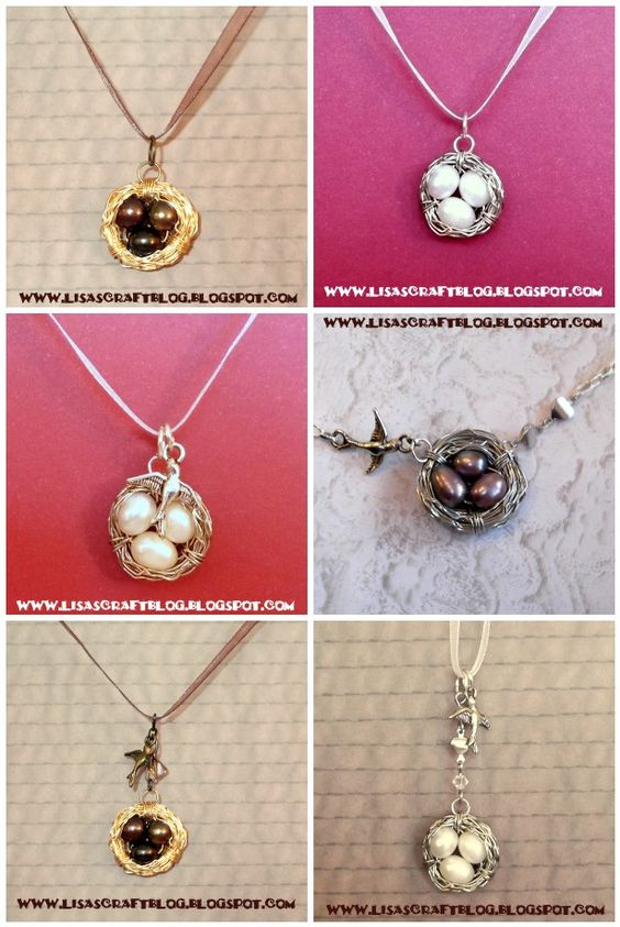 Lisa's Craft Blog: Tutorial: Wire-Wrapped Bird's Nest Necklace