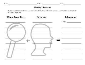 inferencing and drawing conclusion Free, printable drawing conclusion worksheets to develop strong reading comprehension skills more than 1,500 ela activities click to learn more.