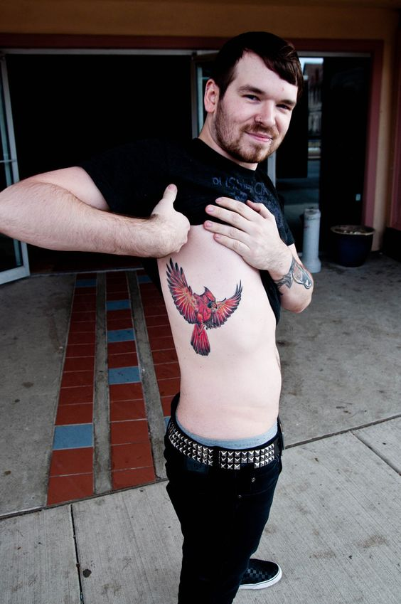 cardinal -- done by brian wilson @ scapegoat tattoo in portland, or