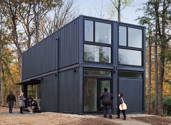 MB architecture sets a prefabricated multi-purpose container in bard college new york | Netfloor USA