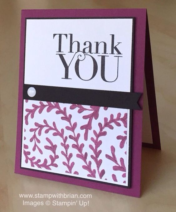 Another Thank You, Into the Woods Designer Series Paper, Stampin' Up!, Brian King: