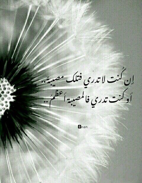 إن كنت لا تدري فتلك مصيبة أو كنت تدري فالمصيبة أعظم Nan Arabic Quotes Plants Quotes