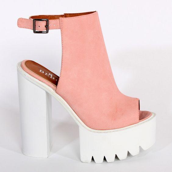 Ark Pink Tasha Slingback Platform Shoe main image